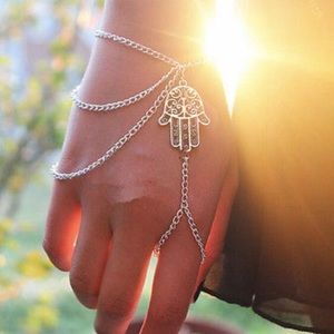 Jewelry - Brand NEW Lucky Hamsa Fatima Charm Slave Bracelet